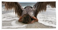 Angel- I Feel Your Sorrow  Beach Towel