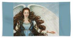 Angel In A Blue Dress Beach Towel