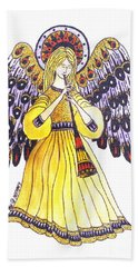 Angel In Horns Section Beach Towel