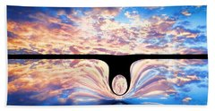 Angel In The Sky Beach Towel by Alec Drake
