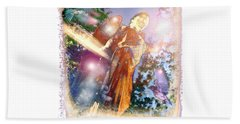 Beach Towel featuring the photograph Angel Light by Marie Hicks