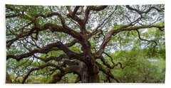 Beach Towel featuring the photograph Angel Oak Tree by Dale Powell