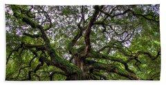 Angel Oak Tree Beach Sheet by Douglas Stucky