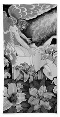 Beach Towel featuring the digital art Angel Of Death Vision by Carol Jacobs