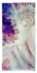 Beach Towel featuring the painting Angel Of Mercy 2 by Leanne Seymour