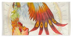 Angel Phoenix Beach Towel