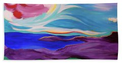 Beach Towel featuring the painting Angel Sky by First Star Art