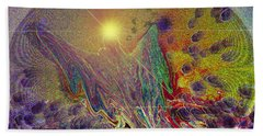 Angel Taking Flight Beach Towel by Alison Caltrider