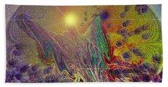 Angel Taking Flight Beach Sheet