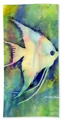 Angelfish I Beach Towel by Hailey E Herrera