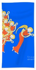 Angelic Chorale Of Horns Beach Towel by Donna Huntriss