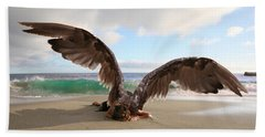 Angels- For The Lord Himself Will Descend From Heaven With A Shout Beach Towel