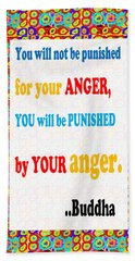Anger Buddha Wisdom Quote Buddhism   Background Designs  And Color Tones N Color Shades Available Fo Beach Sheet