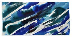 Angle Waves Beach Towel