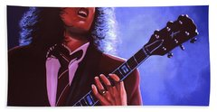 Angus Young Of Ac / Dc Beach Towel
