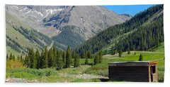 Animas Forks Jail Beach Towel
