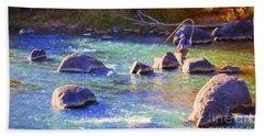 Animas River Fly Fishing Beach Towel
