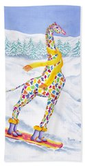 Annabelle On Pow Beach Towel by Rhonda Leonard