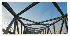 Annapolis Bay Bridge At Sunrise Beach Towel