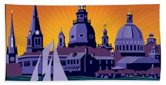 Annapolis Steeples And Cupolas Beach Towel
