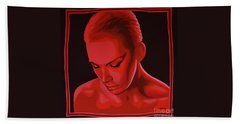Annie Lennox Beach Towel by Paul Meijering