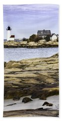 Beach Towel featuring the photograph Annisquam Light by Betty Denise