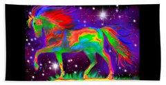 Another Rainbow Stallion Beach Towel by Nick Gustafson