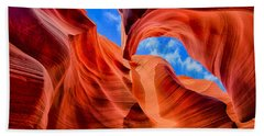 Beach Towel featuring the photograph Antelope Canyon Walls by Greg Norrell