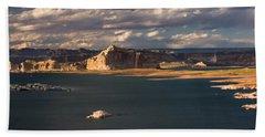 Antelope Island At Sunset Beach Towel