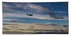 Beach Towel featuring the photograph Antelope Island - Lone Airplane by Ely Arsha