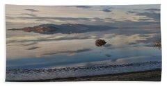 Beach Towel featuring the photograph Antelope Island - Lone Tumble Weed by Ely Arsha
