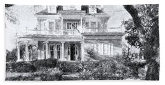 Anthemion At 4631 St Charles Ave. New Orleans Sketch Beach Sheet by Kathleen K Parker