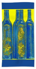 Antibes Blue Bottles Beach Towel