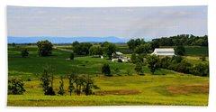 Antietam Battlefield And Mumma Farm Beach Towel by Patti Whitten