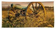 Beach Towel featuring the photograph Antietam Maryland Cannon Battlefield Landscape by Paul Fearn