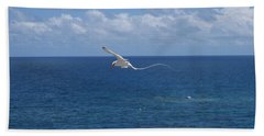 Beach Towel featuring the photograph Antigua - In Flight by HEVi FineArt