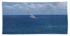 Antigua - In Flight Beach Sheet by HEVi FineArt