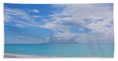Antigua View Of Montserrat Volcano Beach Towel