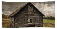 Beach Towel featuring the photograph Antique Barn by Alana Ranney