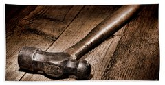 Antique Blacksmith Hammer Beach Towel