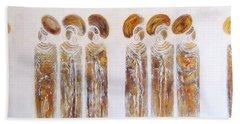 Antique Copper Zulu Ladies - Original Artwork Beach Sheet