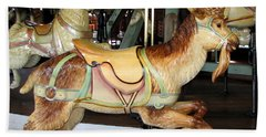 Antique Dentzel Menagerie Carousel Goat Beach Sheet