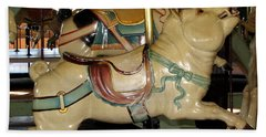 Antique Dentzel Menagerie Carousel Pigs Beach Sheet