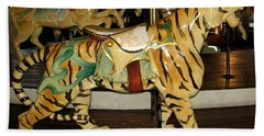 Antique Dentzel Menagerie Carousel Tiger Beach Sheet