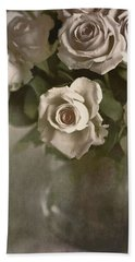 Antique Roses Beach Towel