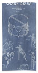 Antique Snare Drum Patent Beach Towel