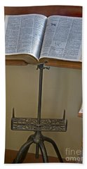 Antique Still Life Reading Stand Beach Towel