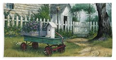 Antique Wagon Beach Towel