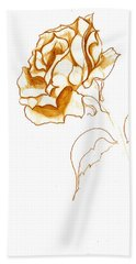 Antiqued Bloom Beach Towel