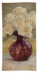 Beach Towel featuring the photograph Antiqued Roses by Betty LaRue